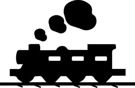 train icon on white background 일러스트