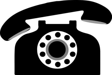 telephone vector isolated on background