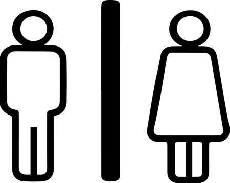 male and female icon,toilet icon isolated on white background