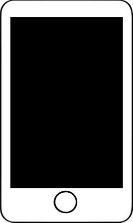 smartphone vector on white background 일러스트