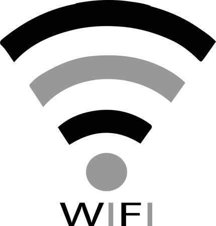 wifi signs icon isolated on white background 일러스트