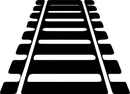 railroad icon on white background