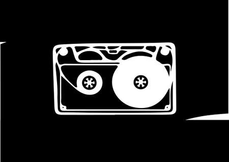 tape cassette  on white background 일러스트