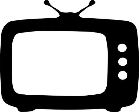 television vector on white background