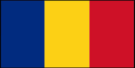 Romania flag vector illustration isolated on background 일러스트