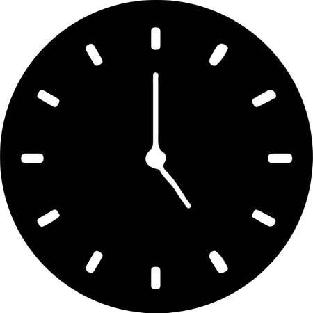 time icon isolated on background Çizim