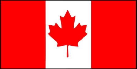 Canada flag vector illustration isolated on background Çizim