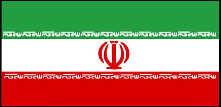 Iran flag vector illustration isolated on background