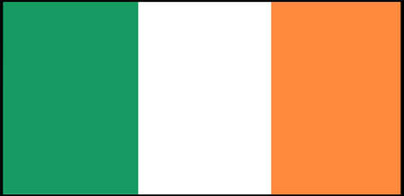 Ireland flag vector illustration isolated on background