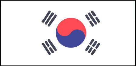 South Korea flag vector illustration isolated on background