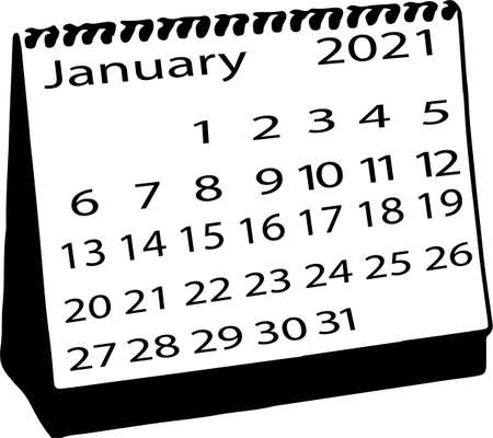 calendar vector illustration isolated on background