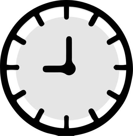 time icon isolated on background 일러스트