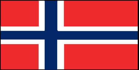 Norway flag vector illustration isolated on background 일러스트