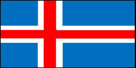 Iceland flag vector isolated on white background
