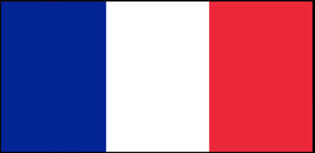 France flag vector illustration isolated on background