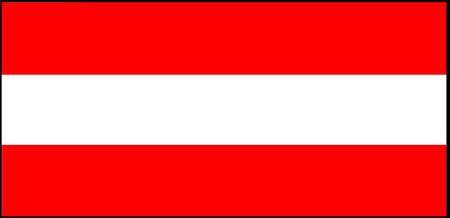 Austria flag vector illustration isolated on background
