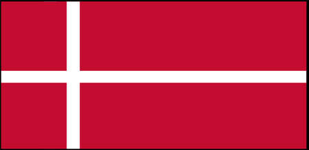 Denmark flag vector illustration isolated on background