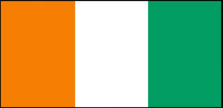 Ivory Coast flag vector isolated on white background
