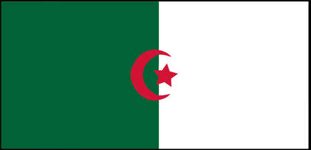 Algeria flag vector illustration isolated on background
