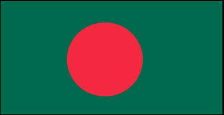 Bangladesh flag vector illustration isolated on background