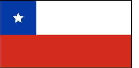 Chile flag vector illustration isolated on background