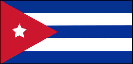 Cuba flag vector illustration isolated on background 일러스트