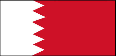 Bahrain flag vector illustration isolated on background 일러스트