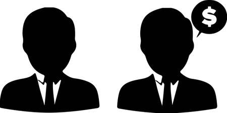 business man icon isolated on white background