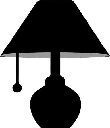 lamp icon isolated on white background