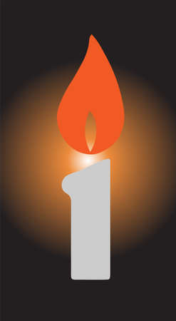 candle icon isolated on background