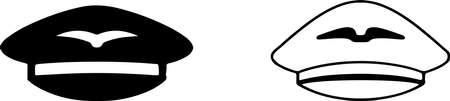 pilot hat icon isolated on white background