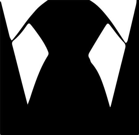 neck tie icon isolated on white background Çizim