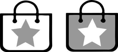 shopping bag icon isolated on white background Çizim