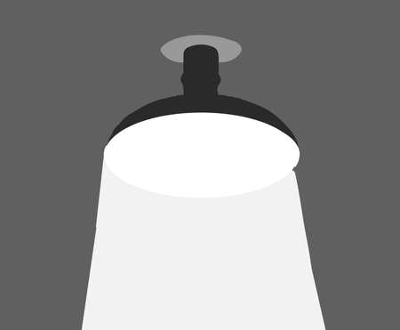 ceiling lamp icon isolated on background