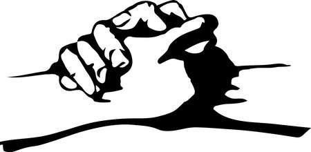 Holding hands icon isolated on background Illusztráció
