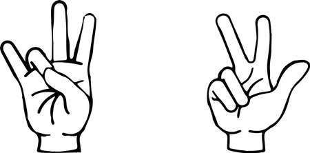 hand sign icon isolated on white background