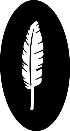 feather icon isolated on background Illusztráció