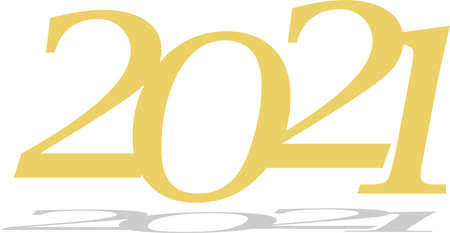 2021 happy new year logo isolated on background