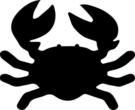 crab icon isolated on white background  イラスト・ベクター素材