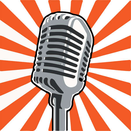 microphone icon isolated on background  イラスト・ベクター素材