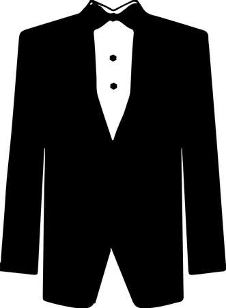 tuxedo icon isolated on white background  イラスト・ベクター素材