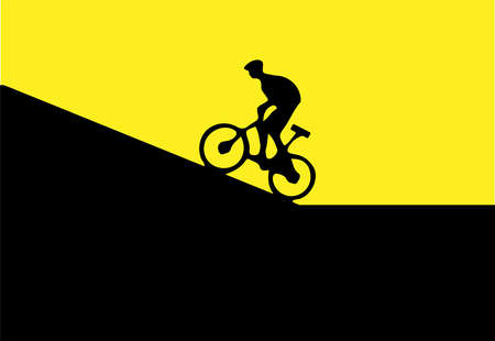 Cycling vector illustration isolated on background Vettoriali