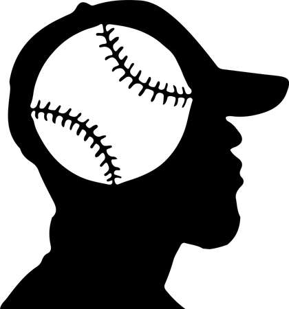 baseball vector illustration isolated on background Vettoriali