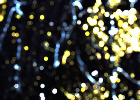 Abstract bokeh lights with color light background