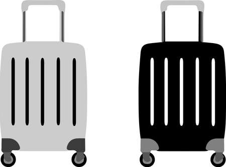 baggage icon isolated on background