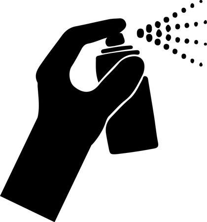 Spraying anti virus sanitizer.infection control concept. Иллюстрация