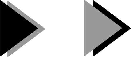 triangle arrow icon on white background