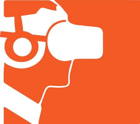 virtual reality icon on background Иллюстрация