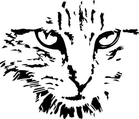 cat vector on white background Иллюстрация