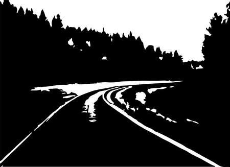 road vector on white background Иллюстрация